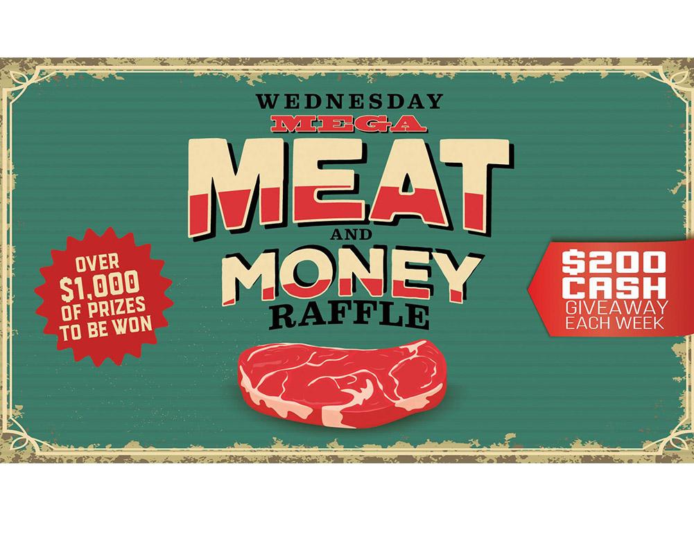 WEDNESDAY MEGA MEAT & MONEY RAFFLE - Shelly Beach Golf Club